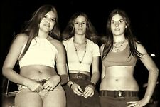 Vintage 1970 TEENAGERS FROM Night Out  Photo 4 x 6 Sepia Reprint