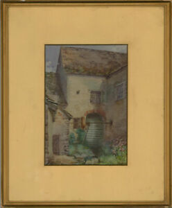 M-D-Masters-Early-20th-Century-Watercolour-Little-Faringdon-Water-Mill
