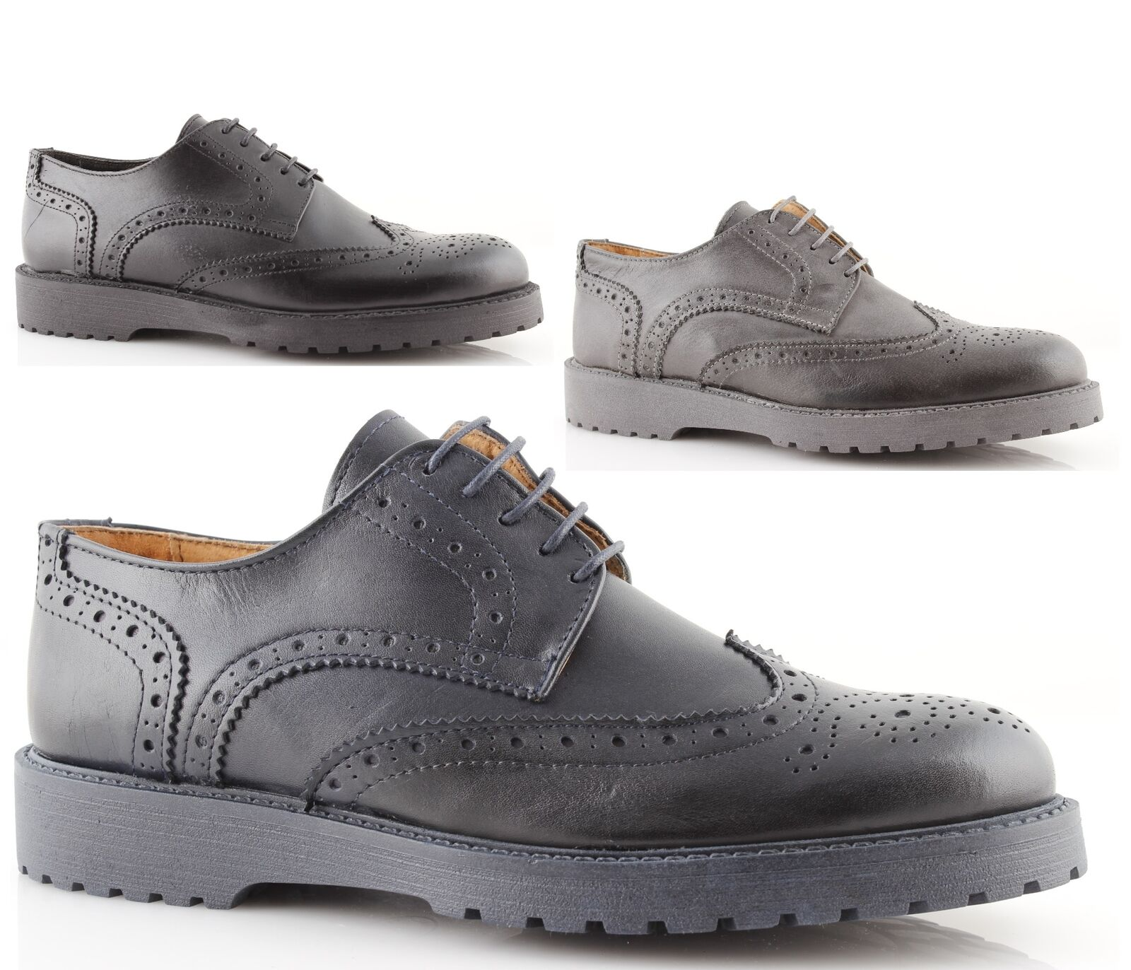 shoes oxford man black bluee low lace-up oxford shoes leather made in ITALY