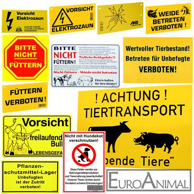 Warnschild Weidezaun,5 Stück Füttern Verboten