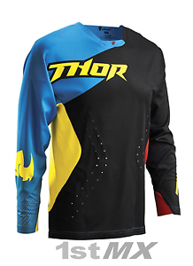 Thor Core Air Divide Black Multi MX Motocross Off Road Race Jersey Adult Small