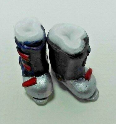 1:12 Scale Dollhouse Miniature Tall Grey Riding Boots #SD280G
