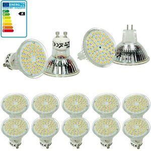 GU10-MR16-LED-Lampe-Birne-Spot-Strahler-Licht-Gluehbirne-3W-54-SMD-10-er-Pack