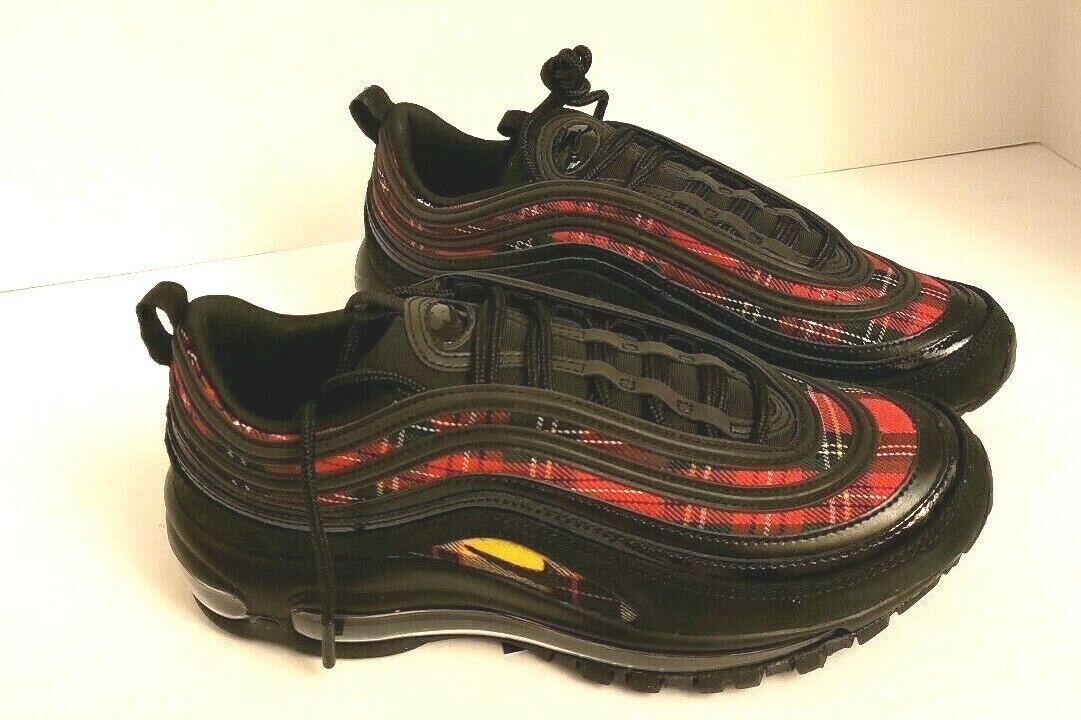 736b005c63 Women's Nike Air Max 97 SE Tartan AV8220-001 Size 8 Black University Red