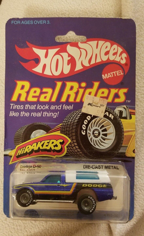 Hot Wheels hirakers Dodge D-50 camión real jinetes de goodyear blu  64