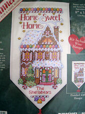 Christmas Dimensions Counted Cross Banner KIT,HOME SWEETNESS,Gingerbread,8584