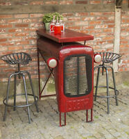 Industrial Breakfast Table Metal Bar Coffee Tall Vintage Dining Retro Rustic Leg