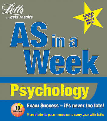 Putwain, David, AS in a Week: Psychology (Revise AS & A2 (Combined)), Very Good