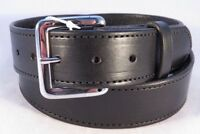 Black Leather Belt Amish Handcrafted Heavy Duty For Work Size 32-46