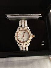 Bulova Accutron Mirador 65R140 - White Ceramic -Rose Gold/Diamonds - 36mm
