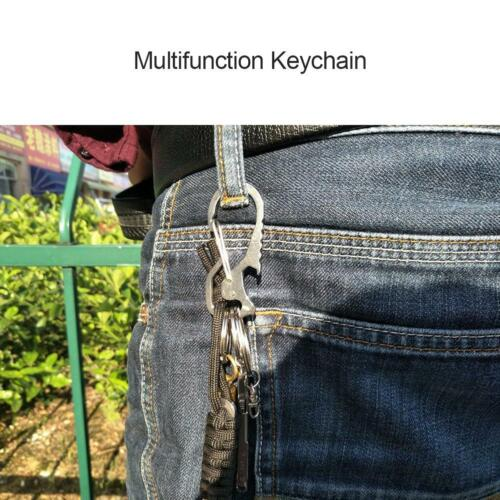 Outdoor Multifunction Keychain Waist Hanging Carabiner Camping Screwdriver