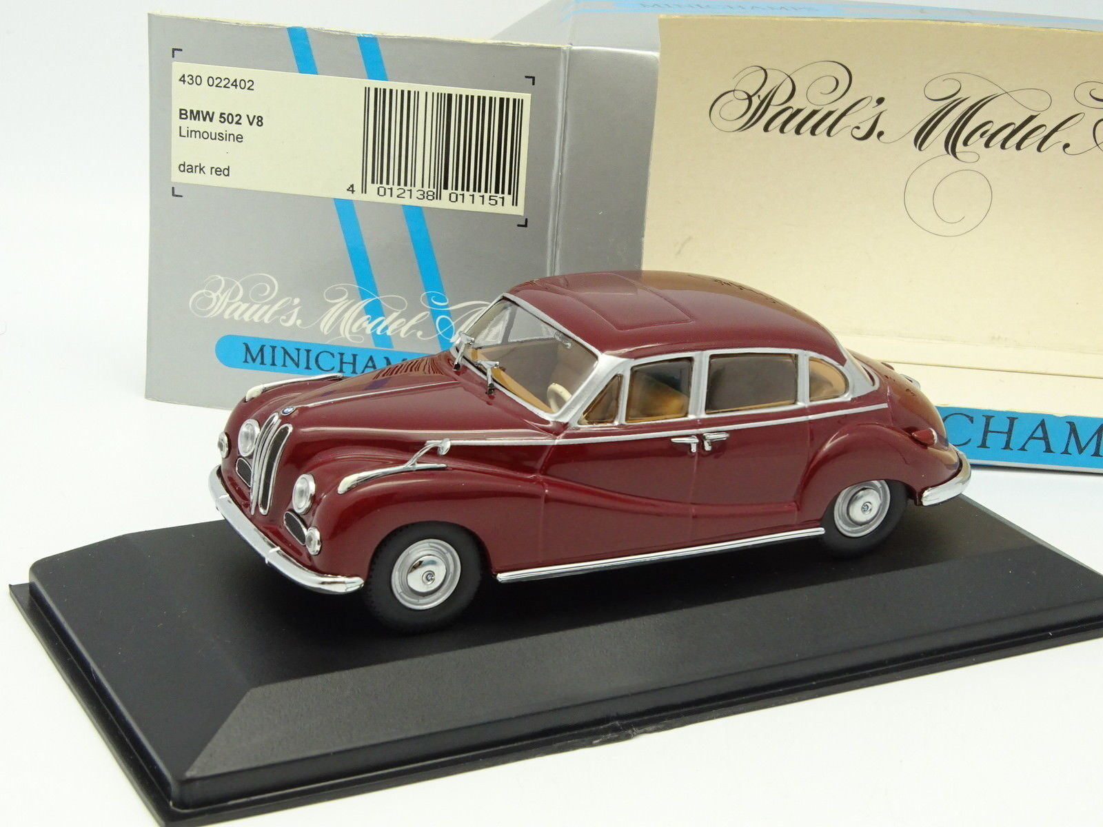 Minichamps 1 43 - BMW 502 V8 Rouge