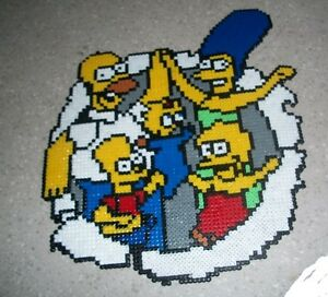 Details about Simpsons kandi perler art necklace, rave, EDC, PLUR hama bead