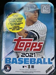 2021 Topps Series 1 MLB Aaron Judge Collectible Tin Factory Sealed NEW in HAND