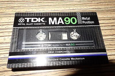 1 X Tdk Ma 90 Min Metal Alloy Typ 4 Music Mc Ovp In Folie Eingeschweisst. 10 Cm