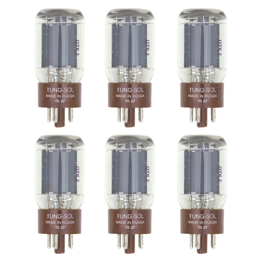 New Plate Current Matched Sextet (6) Tung-Sol Reissue 5881 / 6L6WC Vacuum Tubes