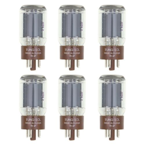 6L6WC Vacuum Tubes 6 Tung-Sol Reissue 5881 New Plate Current Matched Sextet