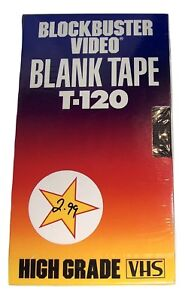 Blockbuster-Video-Store-VHS-Tape-T-120-Blank-Sealed-High-Grade-1990-Set-Prop-Vtg