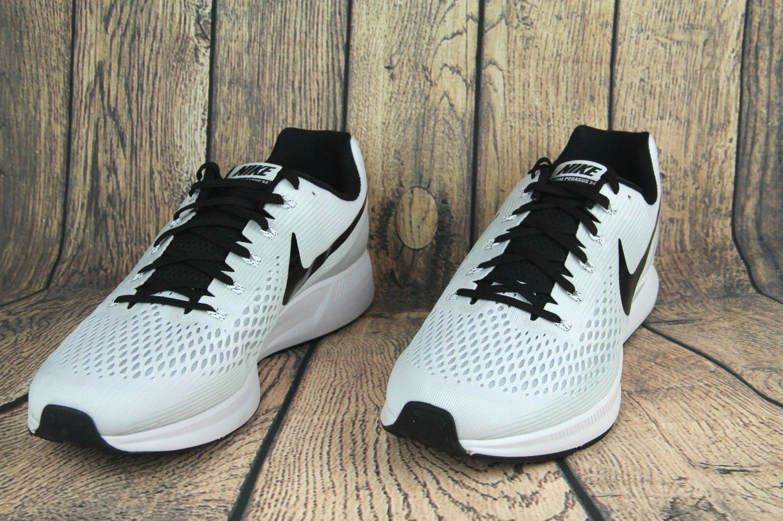 The latest discount shoes for men and women Nike Air Zoom Pegasus 34 TB Running Shoes White Black 887009-100 Mens Price reduction