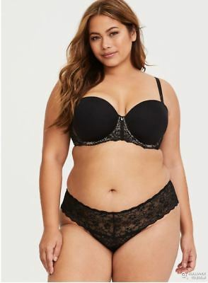 Nwt Sexy Bbw Fashion Xxx Beautiful Torrid Black Lace Cheeky Panty