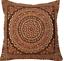 Indian-patchwork-mandala-sari-ethnic-silk-Banarsi-cushion-covers-mandala-16-034-x16-034 thumbnail 12
