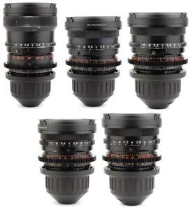5x-OPTON-ZEISS-Super-Speed-18-25-35-50-85-Lens-Set-ARRI-PL-Arriflex-Mount