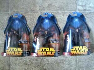 Star-Wars-Anakin-Skywalker-Slashing-Variant-amp-Lightsaber-Attack-Figures-ROTS