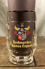 Dortmund, Germany Dortmunder Hansa Export 2.5L Dimpled Glass Bier Beer Stein Mug