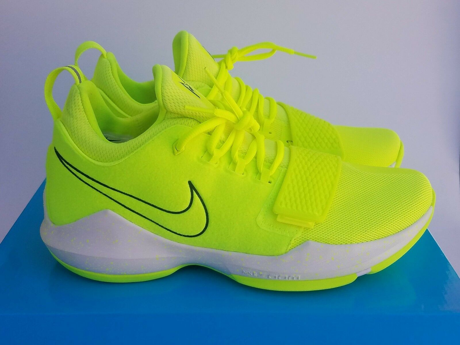 Nike PG1 Paul George Tennis Ball 10 Volt Basketball White Uomo Basketball Volt Shoes 878627 310afa