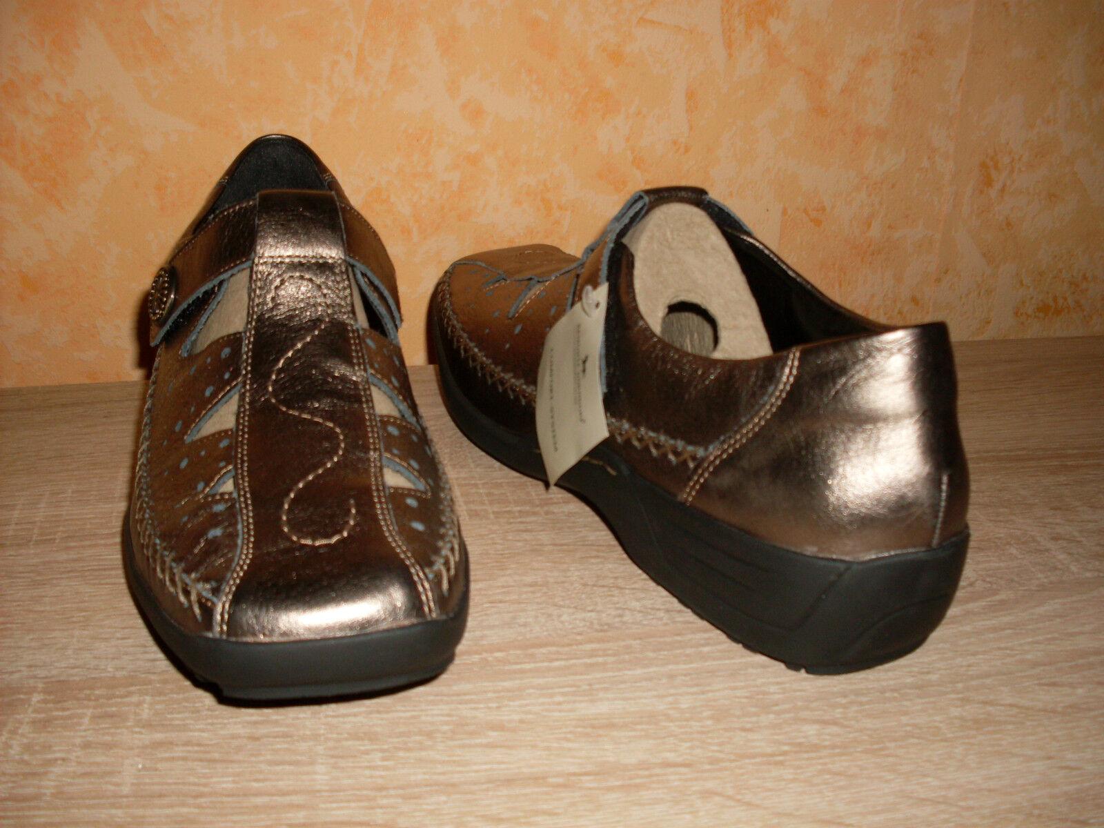 Dorndorf Klettslipper NEU Gr. 9 sehr 43 in bronze & Leder sehr 9 bequem lose Einlagen 505bf5