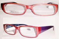 Joy Mangano Red Purple Reading Glasses +3.50 Strength Reading Glasses