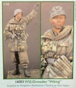 1/16 120mm Resin Figure Alpine Miniatures Waffen Ss Granadier Wiking. New.