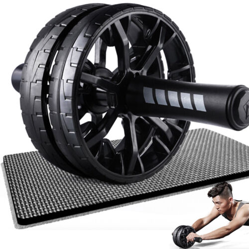 Ab Double Roller Wheel Machine Abdominal Stomach Slide Exercise Fitness Workout