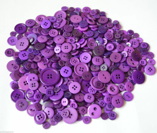 50g Pack Plastic Buttons 20 Colours To Choose From Assorted Mixed Buttons