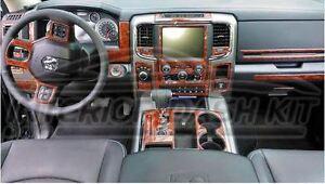 Dodge ram 1500 2500 3500 interior burl wood dash trim kit - 2004 dodge ram 1500 interior accessories ...