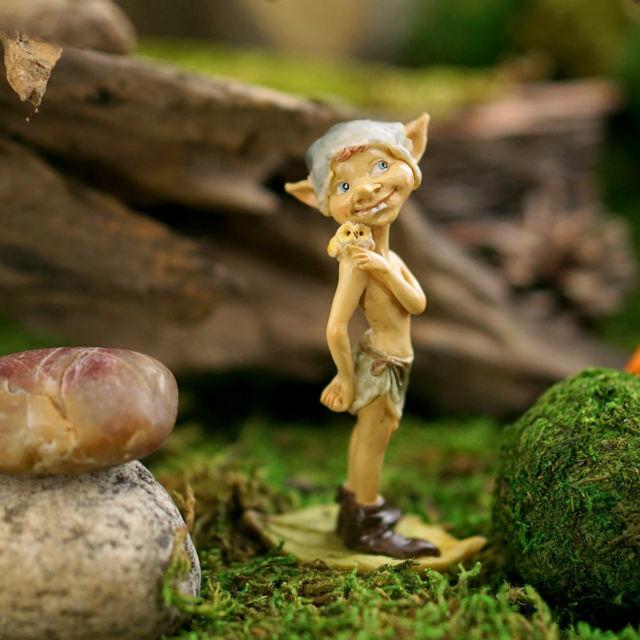Owl and Pixie Fairy Figurine