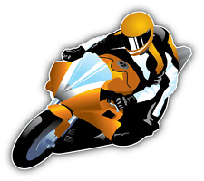 "Motorcycle Racer Auto Moto Car Bumper Sticker Decal 5"" x 4"""