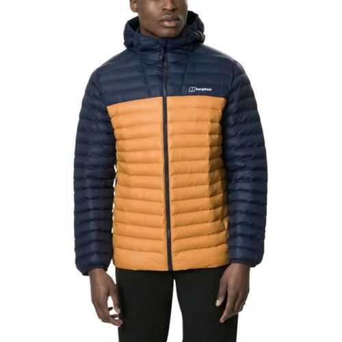 Berghaus Mens Vaskye Jacket Top Blue Yellow Sports Outdoors Full Zip Hooded