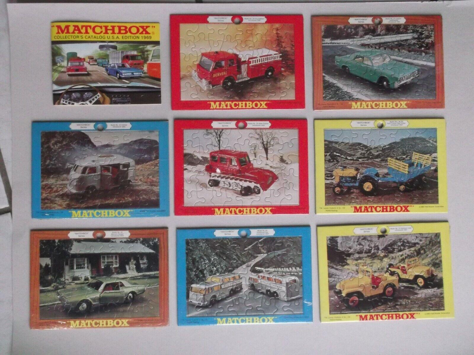 Rarità  MATCHscatola regular ruedas  8 puzzle di 1969, NUOVO, ancora OVP,  catalogo