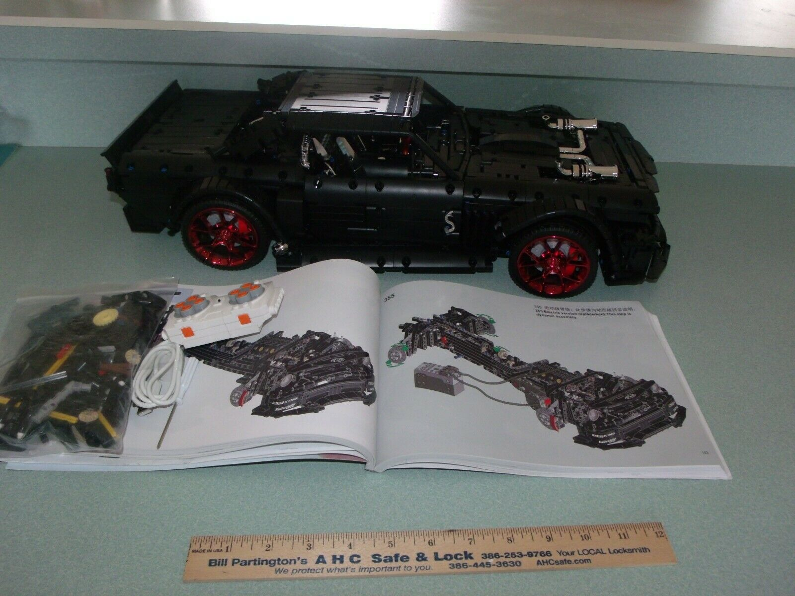 MOC Technic  24   RC 1965 Ford Mustang Racing voiture  1 8 Scale