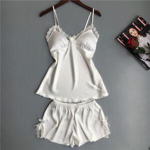 b072e5b376 Pajamas Set For Women Fashion Lace Satin Pijama Sexy Lingerie ...