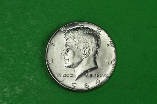 1964-D Choice  BU  Mint State  Kennedy  SILVER  Half  Dollar 90/% Silver