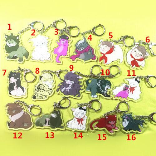 Danganronpa 3 Dangan Ronpa Komaeda Nagito Cat Keychain Keyring Strap Pendant New