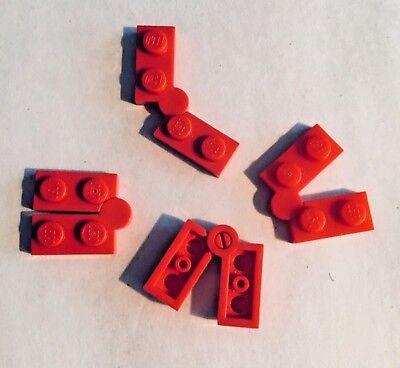 LEGO Lot of 4 Red 1x4 Swivel Hinge Plates