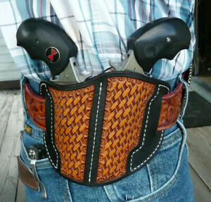 Leather-Holster-NAA-Double-Black-Widow-039-s-North-American-Arms-Ruff-039-s-Black-amp-Tan