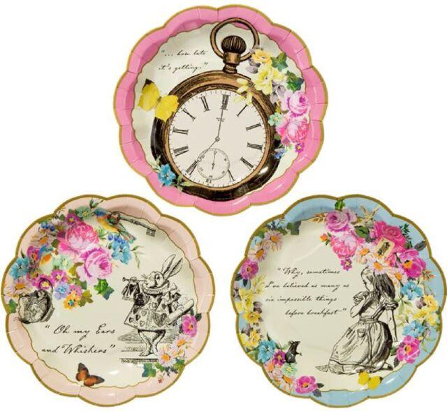 Floral Alice In Wonderland Afternoon Tea Party 44pc Tableware Set Decoration