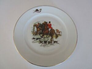 THOMAS-B-SWAIN-amp-Son-034-The-Hunt-034-Fox-hunt-Plate-7-3-4-034-Father-039-s-Day