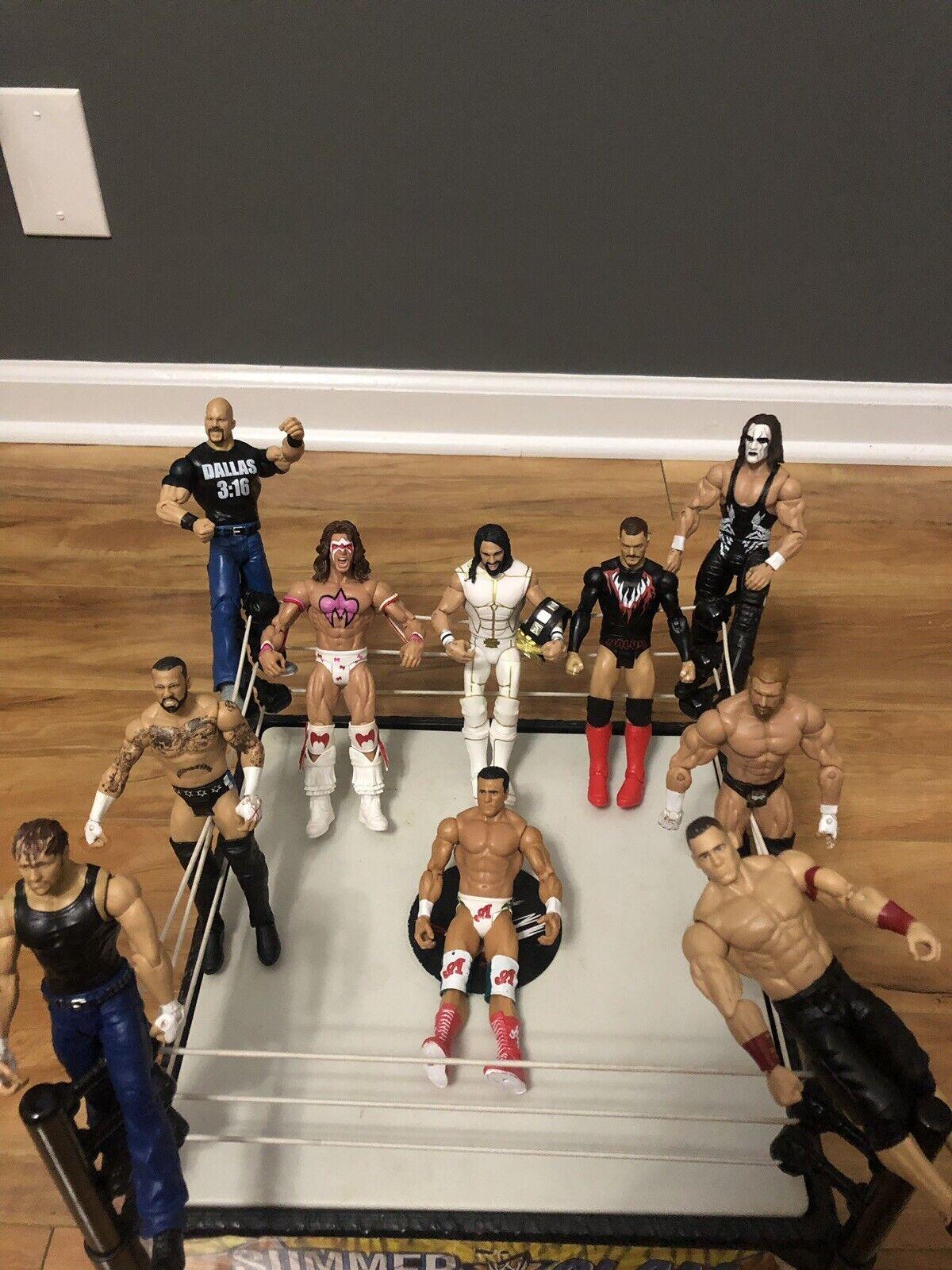 Lot Of 10 Wwe Wrestlers