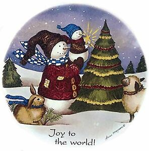 """2 Christmas Country Snowman 4/"""" X 4/""""  Waterslide Ceramic Decals Xx"""