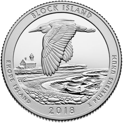2018 S Block Island Rhode Island Mint Clad Proof National Parks from Proof Set